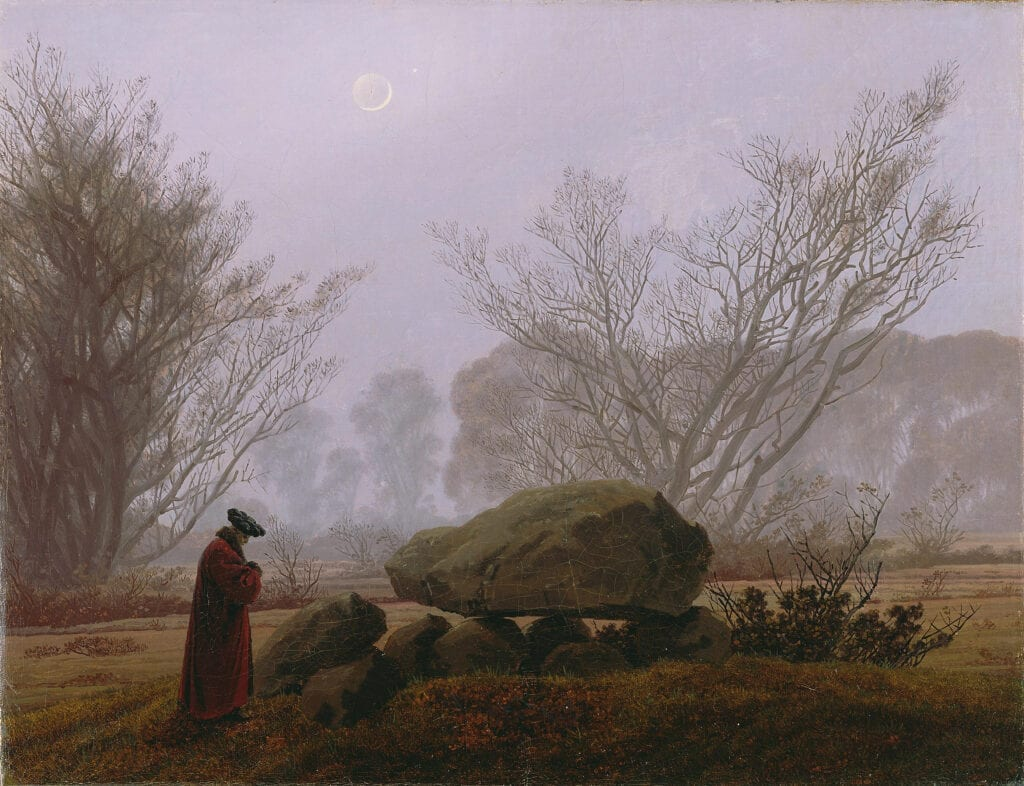 caspard david friedrich, a German Romantic painter who lived during the time that Thomas Carlyle wrote Sartor Resartus.